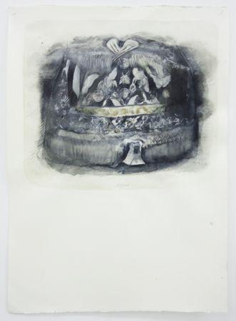 Marianna Ignataki, Alpine, 2017, watercolor, pencil, colored pencil and pastel on paper, 77x57cm