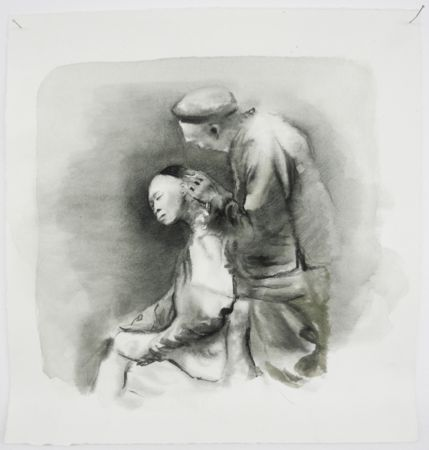 Marianna Ignataki, Untitled, 2017, watercolor, pencil, colored pencil and pastel on paper, 30,5x29,5cm