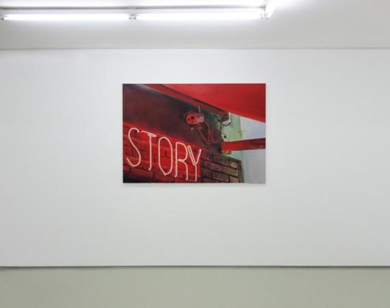 Sotiris Panousakis, Story, 2016, oil on canvas, 140x100cm