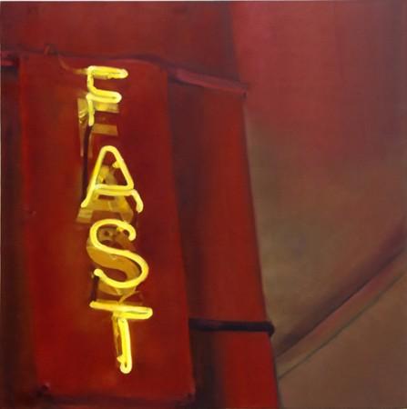 Sotiris Panousakis, FAST, 2011, oil on canvas, 90x90cm