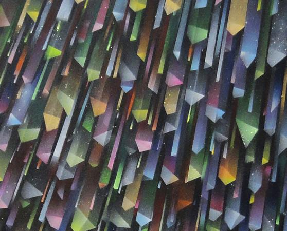 Pavlos Tsakonas, Untitled, 2013, Acrylics on plywwod, 96x64cm, detail