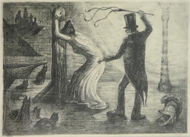 Diamantis Sotiropoulos, Master, The Punishment series, 2013, graphite on paper, 21x29,7m