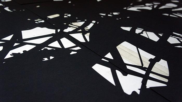 Lefteris Tapas, Shadowgarden, 2013, cut paper, 120x224cm_detail