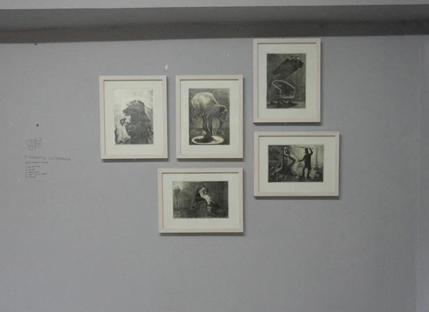 Installation. Diamantis Sotiropoulos, Punishment series, 2013, Pencil on paper