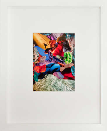 Yorgos Stamkopoulos, Untitled, Captain America vs Red Skull series, 2012, collage on paper, 10x14cm