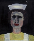Celia Daskopoulou, Untitled, 1981, oil on canvas, 60x50cm, Courtesy of CAN Christina Androulidaki gallery