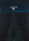 Celia Daskopoulou, L'avion, 1969, oil on canvas, 100x73cm, Courtesy of CAN Christina Androulidaki gallery