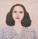 Celia Daskopoulou, Baby Girl, 1977, acrylic on canvas, 80x80cm