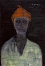 Celia Daskopoulou, Untitled, 1981, oil on canvas, 100x70cm