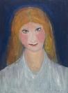 Celia Daskopoulou, Untitled, 1973, oil on canvas, 55x40cm