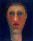 Celia Daskopoulou, Tete Humaine, 1970, oil on canvas, 61x50cm