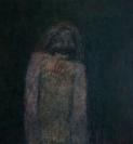 Varvara Liakounakou, Untitled, 2018, oil and oil pastels on canvas, 150x140cm
