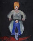 Celia Daskopoulou, Untitled (Motorcycle), 1988, acrylic on canvas, 100x81cm