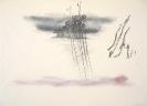 Dimitris Condos, Rain, Rome 1961, Graphite and color pencils on paper, 34x47cm