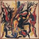 Dimitris Condos, Untitled, Paris 1963, Oil on canvas, 100x100cm