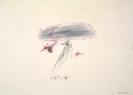 Dimitris Condos, Drawings-Rains, Rome 1961, color pencils on paper, 50x70cm