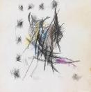Dimitris Condos, Untitled, c.1961-3, Graphite and coloured pencils on paper, 48x48cm