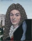 Emmanouil Bitsakis, Jean Battiste Lully, 2012 acrylics on canvas, 12,5x10cm