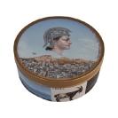 Emmanouil Bitsakis, Souvenir d' Athènes, 2006 oil on metal cookie box, h40mm, d90mm
