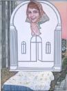 Emmanouil Bitsakis, Outdoor Madonna, 2018  acrylics on canvas, 24x18cm