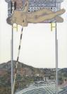 Emmanouil Bitsakis, Pole Jumping, 2017 acrylics on wood, 21x15cm