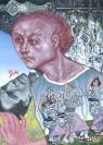 Emmanouil Bitsakis, Gustav Mahler, 2020, Acrylics on canvas, 21x15cm, Courtesy of the artist and CAN Christina Androulidaki gallery, Athens