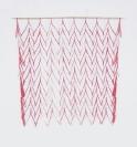Nikos Alexiou, Red Curtain, paper, string, 50x50cm