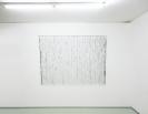 Nikos Alexiou, Black Curtain, paper, string, reed, 180x135cm