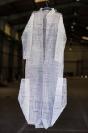 Stratis Tavlaridis, Double Shirt III, 2014, handmade cut out on paper, 52x180cm