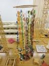 Nikos Alexiou, Untitled, Paper, string, reed, 31x31x200cm