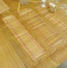 Nikos Alexiou, Untitled, reed, string, various dimensions