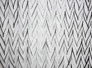 Nikos Alexiou, Black Curtain, paper, string, reed, 180x135cm, detail