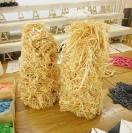Nikos Alexiou, Untitled, reed, wax, dimensions variable