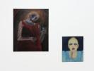Celia Daskopoulou, Untitled, 1982, Oil on canvas, 100x81cm and Celia Daskopoulou, On Duty, 1974, Oil on canvas, 60x50cm