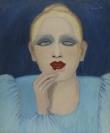 Celia Daskopoulou, On Duty, 1974, Oil on canvas, 60x50cm