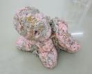 Nana Sachini, Amalthea (Revisited), 2017, Expanding foam, clay, plastic flowers, acrylic, 70x75x55cm