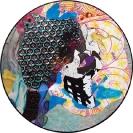 John Kleckner, Dont Bring Me Down, 2014, Ink, acrylic, gouache, paper collage on Vinyl record, D 30cm