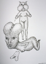 Stavroula Papadaki, Untitled, 2011, ink on paper, A4