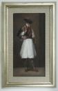 Ilias Papailiakis, Untitled, Oil on canvas, 30x16cm