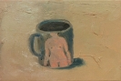Marlon Wobst, PinUpCup, 2012, Oil on Canvas,26x36cm