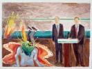 Christos Giannopoulos, Last Judjement 1, 2012, oil on canvas, 30x40cm