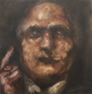 Vasilis Karouk, God created you in one Day, 2013, oil on canvas, 38x35cm