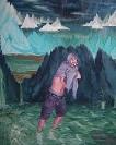 Untitled, 2008, egg tempera on wood, 90x110cm