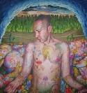Untitled, 2009, egg tempera on wood, 79x75cm