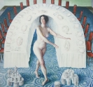 Konstantinos Ladianos, Untitled (Olympia), 2015, egg tempera on wood, 70x65cm