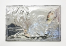 Konstantinos Ladianos, Paolo, 2015 aluminium and egg tempera on paper mounted on wood, 40x26cm