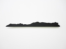 Lefteris Tapas, Island I, 2019,  black graphite on paper, metal, 83,5x8cm Courtesy of CAN Christina Androulidaki gallery