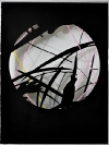 Lefteris Tapas, Untitled (Cave V), 2011, tar and acrylics on cut paper, 56x76cm