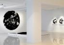 Lefteris Tapas, Kaleidoscope, 2011, tar and acrylics on cut paper, D.270cm, installation shot
