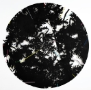 Lefteris Tapas, Kaleidoscope, 2011, tar and acrylics on cut paper, D.270cm